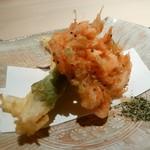 85262835 - 桜海老とふきのとう 白魚と大葉
