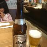うまいもん 誠三朗 - 瓶ビール中。