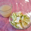 べんがる - 料理写真:味噌スープ & コールスローサラダ