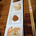 旬鮮吟味 唐八 - 最初に出てきた4000円コースの肴です。