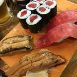 寿司の丸信 - 中トロ、鉄火、あなご