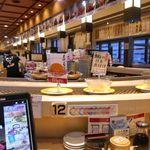 回転寿司函館まるかつ水産 - 「回転寿司函館まるかつ水産 本店」は人気店とのことでしたが、早い時間に足を運んだこともあってまだまだ空き空き。