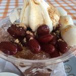 ひまわりcafe - アイスクリームと白玉たっぷり