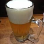 ら~麺藤平 - 生ビール