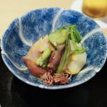 にい留 - 篠島の平貝、ホタルイカ、空豆