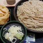 Yudetarou - 二枚盛り470円+かき揚げ天(クーポンで無料)