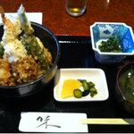 居酒屋たけ政 - 2011.07 ランチの天丼 500円