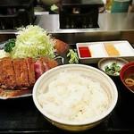 牛かつ もと村 - 牛かつダブル麦飯セット     ¥2100