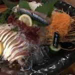 九州 熱中屋 - 豊後水道の活鯖お刺身  半身です♡これを食べに行きました