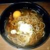 新潟庵 - 料理写真:新潟庵 1号ホーム店@新潟 月見そば(350円)