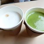カフェ・スゥ・ル・スリジエ - ドリンク写真:紙コップでの提供は少々残念