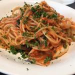 フォルトゥーナ - ヤリイカのトマトソーススパゲティ