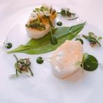 Epicure - ビゴルノー貝の煮汁仕立て ワイルドガーリック風味