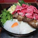 85291753 - 野菜の水分で炊き込むすき焼き