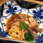 海峯魯 - ◆鯛のあら炊き 薄味で炊かれ照りもなく、もう少し照りのある濃厚な味わいが好きです。