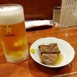 85293765 - 生ビール☆タンの角煮
