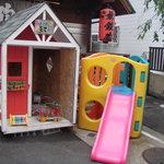 無鉄砲 - 並んでる間の子供の遊具もあります