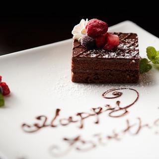 誕生日や記念日にお祝い用ケーキプレートプレゼント!
