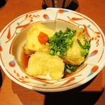 たかせ - 「白子豆腐の揚げ出し」。コレは美味しい!
