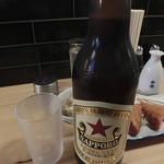 大衆酒場BEETLE 浦和店 - 大瓶ビール サッポロ赤星