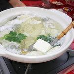 竹仙 - 湯豆腐です(セットに含まれる)