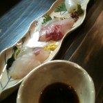 酒菜屋 志らい - 「地魚三種」(980円)
