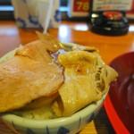 神戸ちぇりー亭 - チャーシューはライスに避難させてチャーシュー丼に