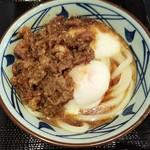丸亀製麺 - 牛とろ玉うどん(並)税込690円(2018.05.06)