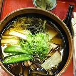 一休茶屋 - 山菜そば  といたどりの煮物