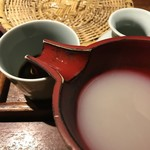 ごん - 蕎麦湯
