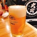 海鮮屋台おくまん - 生ビール(中) 322円