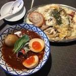 麺屋武蔵 巖虎 - ラクレッドカレーつけ麺+炙りチャーシュー