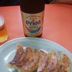 太門 - オリオンビールと餃子