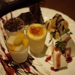 完全個室・夜景一望・美食×肉プレート 七色 - デザート盛り合わせ