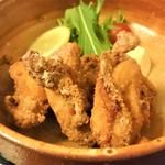 蕎吟 - 蕎麦返しの鶏竜田揚げ