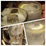 もつ焼き おとんば - ホッピーとレモンサワーで乾杯後のシャリキンは効きます。