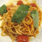 グリルド パブ ブーティーズ - ●フレッシュバジルのトマトソースパスタ