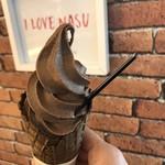 エヌカカオ - 料理写真:ビターチョコ ソフトクリーム