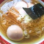 きく屋 - ラーメン煮たまご入りあっさり(750円)