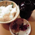 花翆 - 御飯、味噌汁、香の物