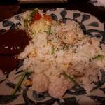 レストラン木木 - 木木セット(985円) エビピラフ&ハンバーグ