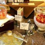 レストランパトリー - 2種のグレープフルーツのジュレ、梅酒のジュレ、マチェドニア