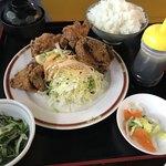 大盛り食堂 わいわい亭 - 料理写真:唐揚げ定食5個900円