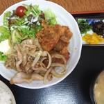 大黒屋 - 焼肉唐揚げ定食  1000円