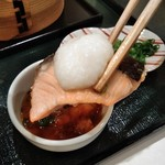 大志満 - [料理] 鮭と山芋の蒸し物 アップ♪w