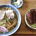 中華そば おおつか   - 料理写真:ミニソースカツ拉麺セット