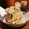 蕎野 - 料理写真:巨大な掻揚げ