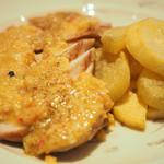 Chef's Table R&D - 本日のお肉料理 1100円 の若鶏ムネ肉のロースト ラヴィゴットソース