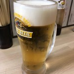大衆酒場 五の五 - 「生ビール」一番搾り。380円也。