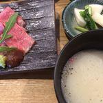 燦燦カフェ - 豆乳スープ